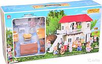 Дом игровой для кукол 012-01 Happy Family аналог Sylvanian Families Сильваниан с мебелью