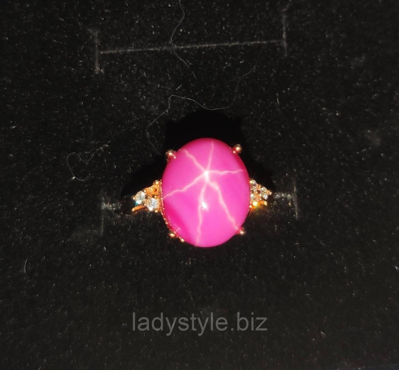 """Класичний перстень """"Класика"""" з зірчастим рубіном , розмір 17.8 від студії LadyStyle.Biz"""