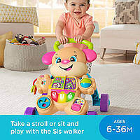 Интерактивные детские ходунки каталка Fisher-Price оригинал обучающая игрушка