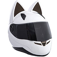 Мото Кото шлем с ушками женский MS-1650 (ABS, размер M-L, цвета в ассортименте)