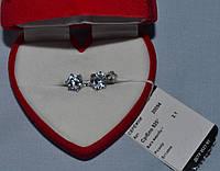 Серебряные СЕРЬГИ ПУСЕТЫ 925 родированные, фото 1