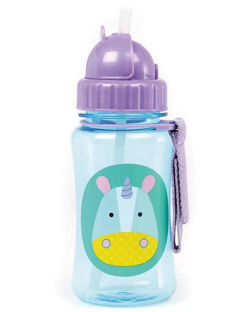 Детская бутылочка (поильник) с силиконовой трубочкой Скип Хоп для детей