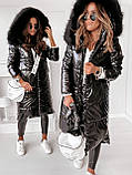 Куртка пальто женская зимняя длинная тёплая, фото 2