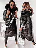 Куртка пальто женская зимняя длинная тёплая, фото 4