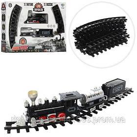 ЖД YY-097 (18шт) 138-87см,локомотив-свет,звук, вагон 2шт,15дет,на бат-ке,в кор-ке,50-36-8,5см