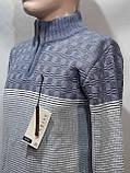 Шерстяной мужской свитер Sunrise воротник стойка Турция синий, фото 8