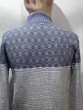 Шерстяной мужской свитер Sunrise воротник стойка Турция синий, фото 9