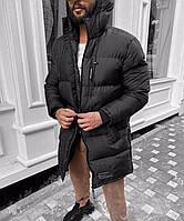Зимняя парка мужская Arcan / Куртка удлиненная черная / Люкс Качество Турция