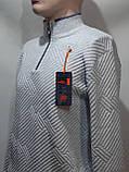 Мужской свитер Vip Stones воротник стойка Турция Молочный, фото 4