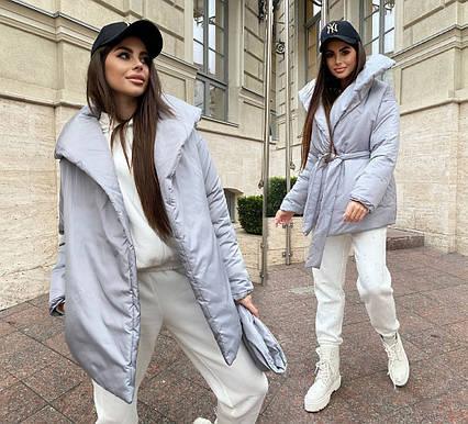 """Тёплая женская куртка 319 """"Куртка Одеяло"""" в расцветках"""