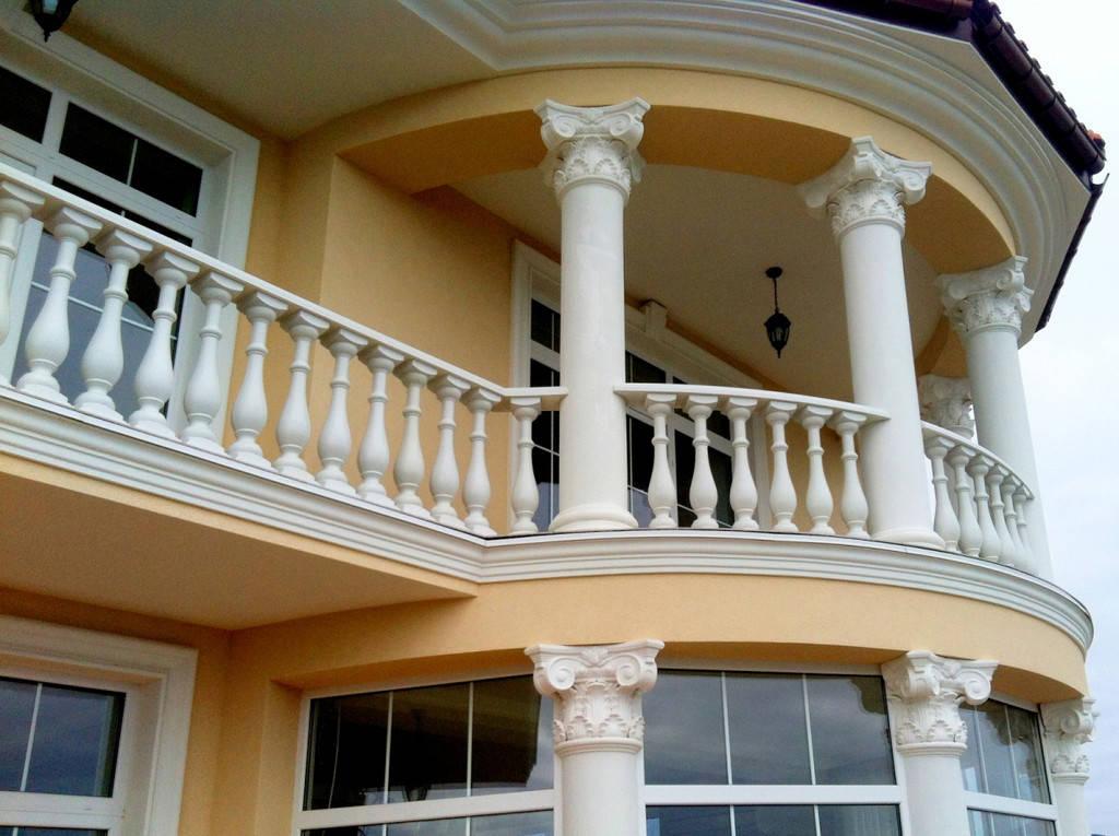 В данной работе использована бетонная балясина, модели В0, она не нуждается в шпаклевке и покраске. Срок службы изделий  не менее 20 лет под открытым небом. Наши балясины и балюстрады обладают высокой прочностью и плотность.