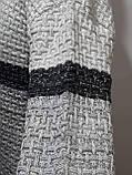 Шерстяной мужской свитер с модным воротником на шнурке Турция Светло-серый (большие размеры), фото 6