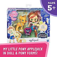Май литтл пони Эпплджек и блестящая пони My Little Pony Applejack Glitter Pony, фото 1