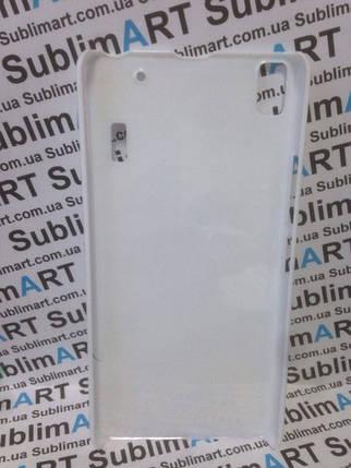 Чехол для 2D сублимации пластиковый на Lenovo A7000 белый, фото 2