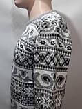 Мужской шерстяной свитер с орнаментом Rewac Турецкий Светло-серый, фото 2