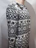 Мужской шерстяной свитер с орнаментом Rewac Турецкий Светло-серый, фото 3
