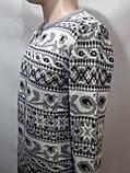Мужской шерстяной свитер с орнаментом Rewac Турецкий Светло-серый, фото 4