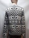 Мужской шерстяной свитер с орнаментом Rewac Турецкий Светло-серый, фото 7