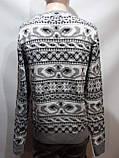 Мужской шерстяной свитер с орнаментом Rewac Турецкий Светло-серый, фото 9