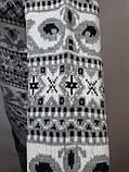 Мужской шерстяной свитер с орнаментом Rewac Турецкий Светло-серый, фото 8