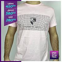 Мужская футболка PORSCHE DESIGN розовая.Чоловіча футболка PORSCHE DESIGN рожева
