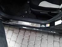 Toyota Corolla 2013 Накладки на пороги VIP (4 шт, нерж.)