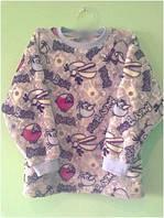 Пижама детская теплая флис для девочки, мальчика