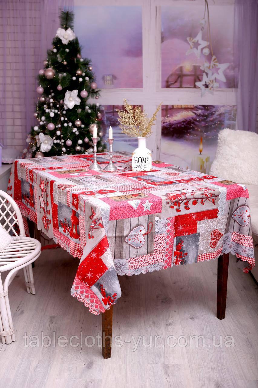 Скатерть Новогодняя 120-150 «Love»