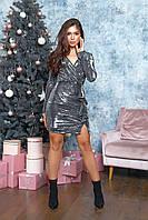 Платье мини с запахом (42)