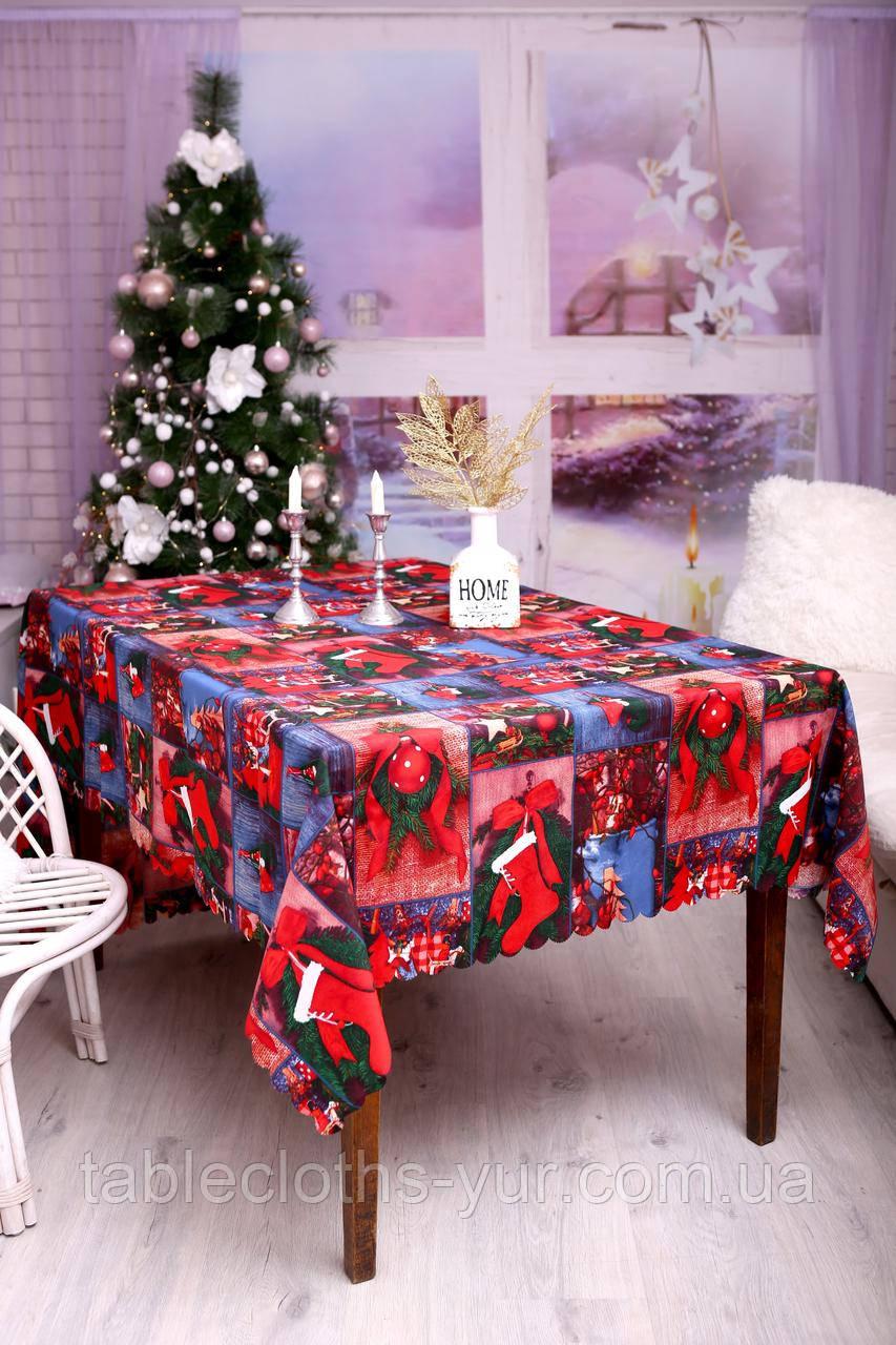 Скатерть Новогодняя 120-150 «Merry Christmas»