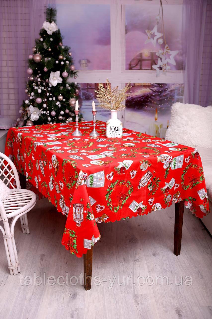 Скатерть Новогодняя 120-150 «Happy New Year»