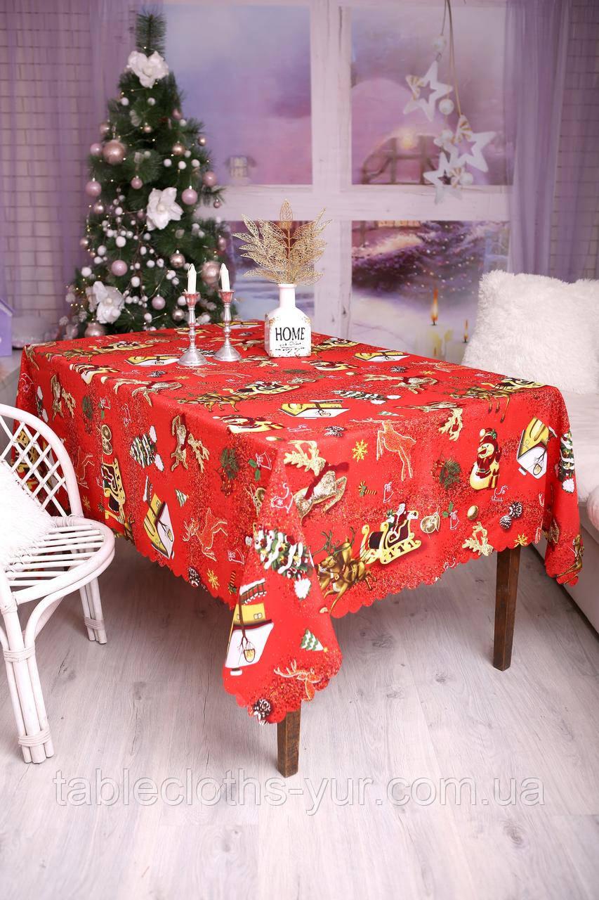 Скатертина Новорічна 120-150 «Новорічні іграшки»