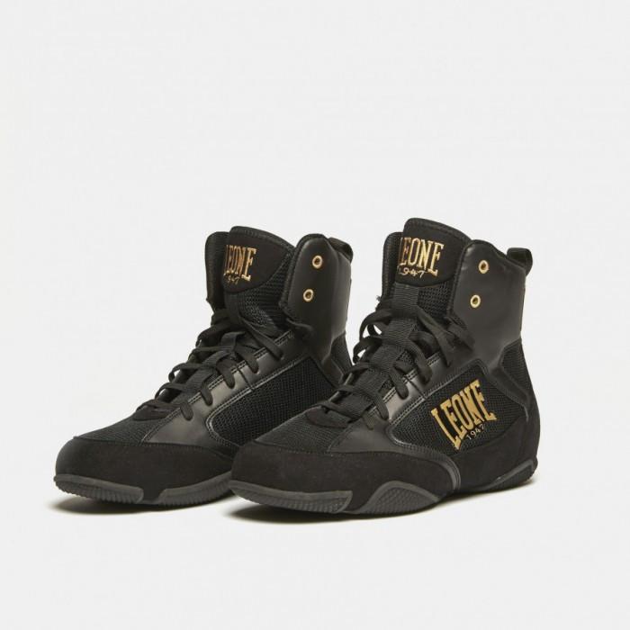 Боксерки (взуття для бойових мистецтв) Leone Premium Black 45 розмір чорні