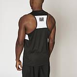 Майка чоловіча спортивна чорна Leone Shock Black розмір XL, фото 2