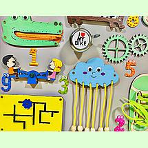 Развивающая доска размер 50*60 Бизиборд для детей 37 элементов!, фото 3