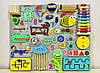 Развивающая доска размер 50*60 Бизиборд для детей 37 элементов!, фото 6