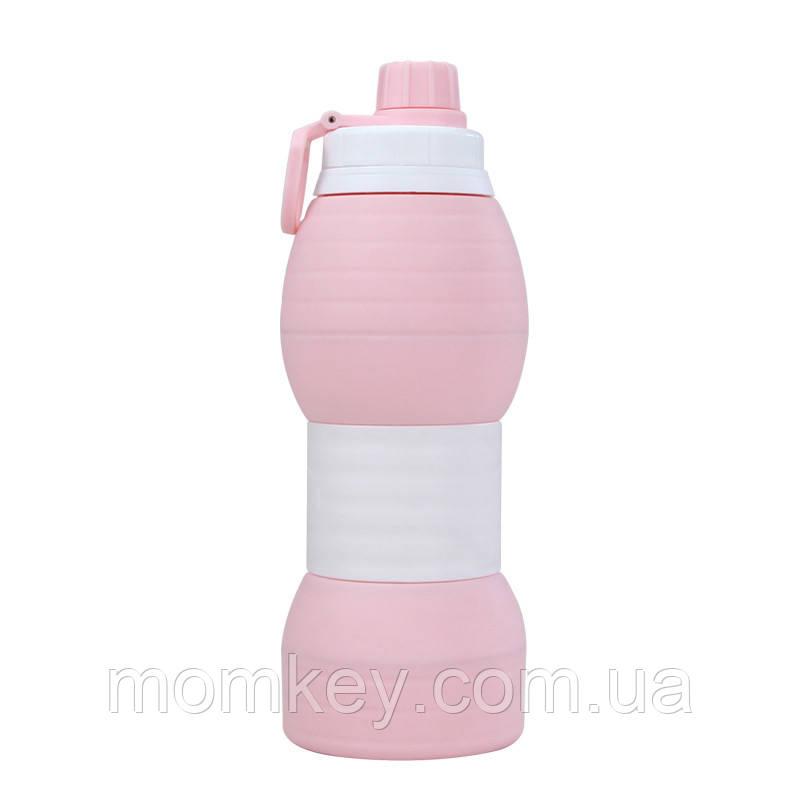 Бутылка 600 мл (розовый-кварц)