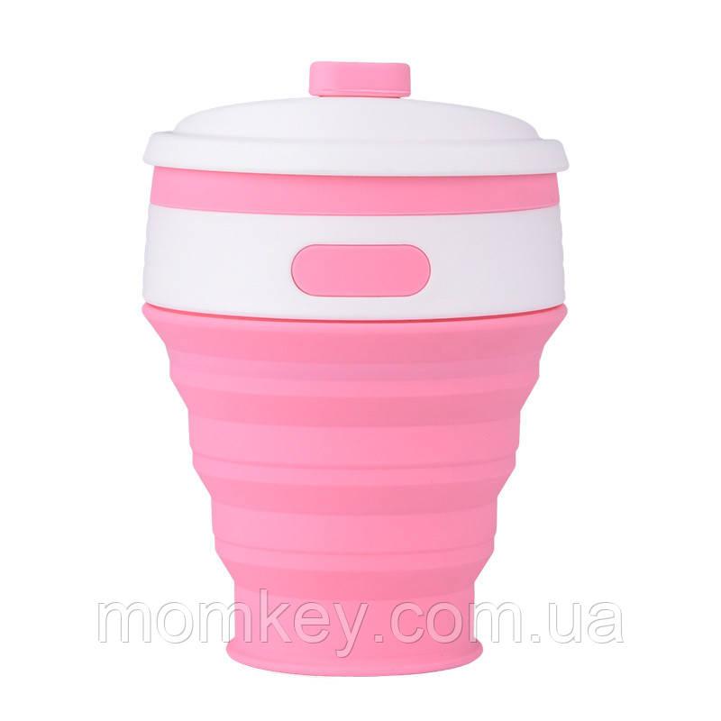 Тарілочка з кришкою+силіконова ложка (рожевий кварц)