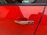 Opel Meriva Накладки на ручки из нержавейки ОмсаЛайн узкие