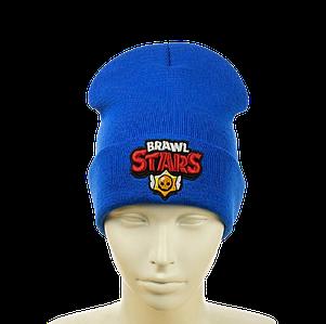 """Детская шапка """"Brawl Stars"""" Электрик (Синяя)"""