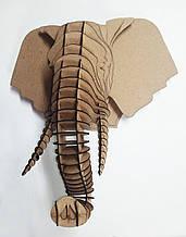 Трофей голова слона, настенная фигура, сборная 3D модель