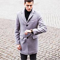 Стильное мужское пальто зимнее серое / Тёплое пальто мужское / Размер ХL, фото 1