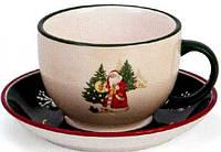 Чашка с блюдцем Дед Мороз