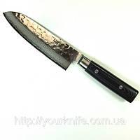 Купить нож кухонный японский Yaxell Zen Damascus Santoku 165мм
