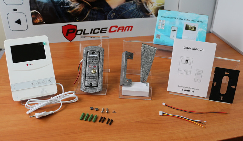 Комплект видеодомофона PoliceCam PC-431 W HD (PC-668H)