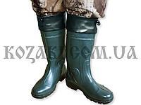 """Сапоги резиновые """"Охотник СО6"""" с манжетом зеленые"""