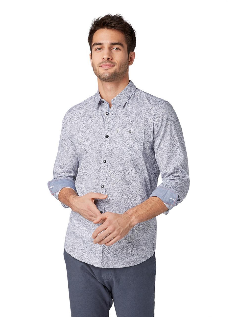 Рубашка Tom Tailor 1009346 XL Серый