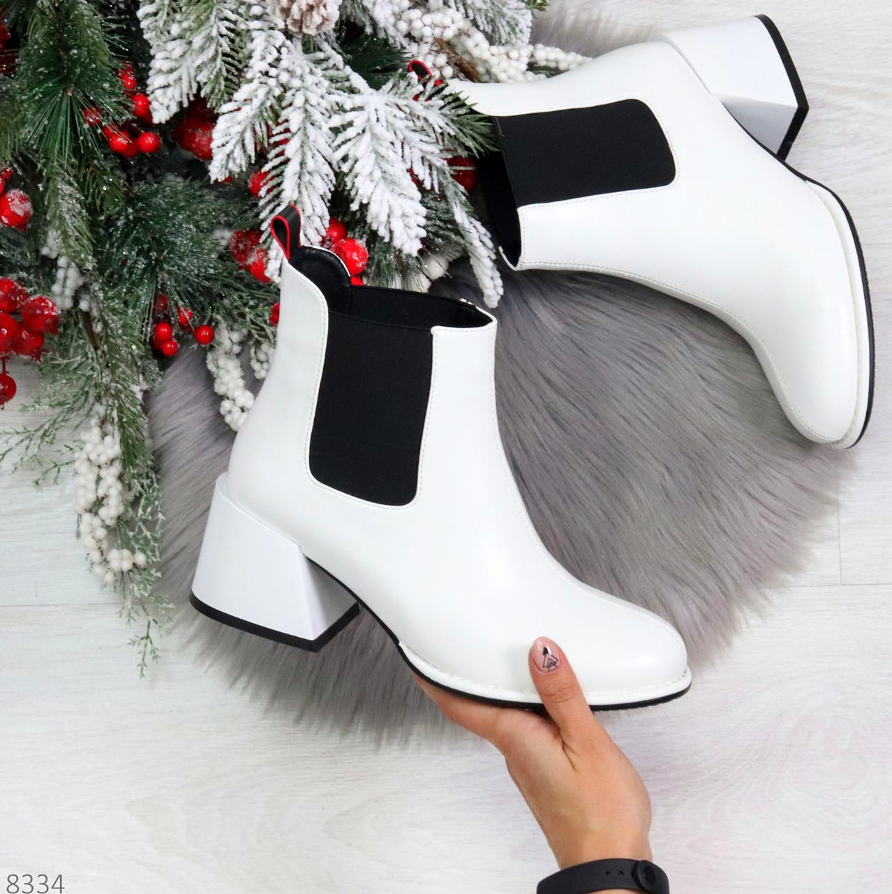 Роскошные светлые светлые молочные женские ботинки ботильоны на удобном каблуке