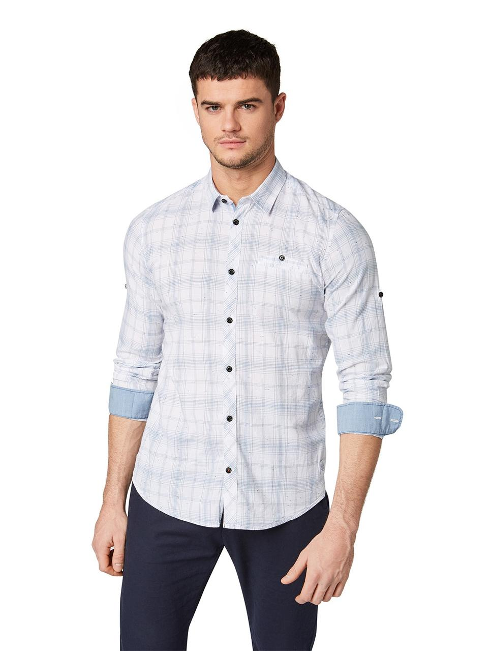 Рубашка Tom Tailor 1009434 L Голубой