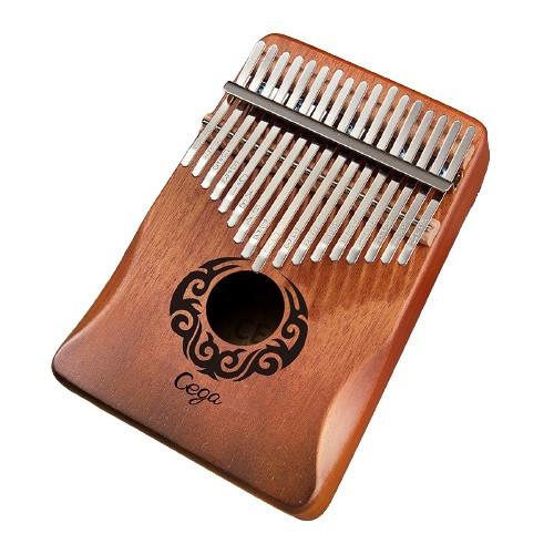 Калимба музыкальный инструмент на 17 язычков (премиум качество) - орнамент Коричневый